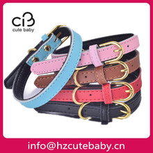 genuine leather plain dog collars