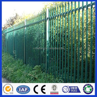 Cheap Wrought iron spear top Steel palisade Panel Security Fence /Palisade Fencing