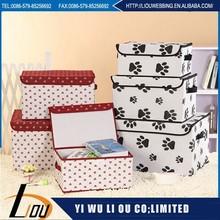 Mickey design pattern wine red nonwoven storage box for home