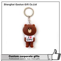 Cheap custom soft pvc rubber keychain keyring