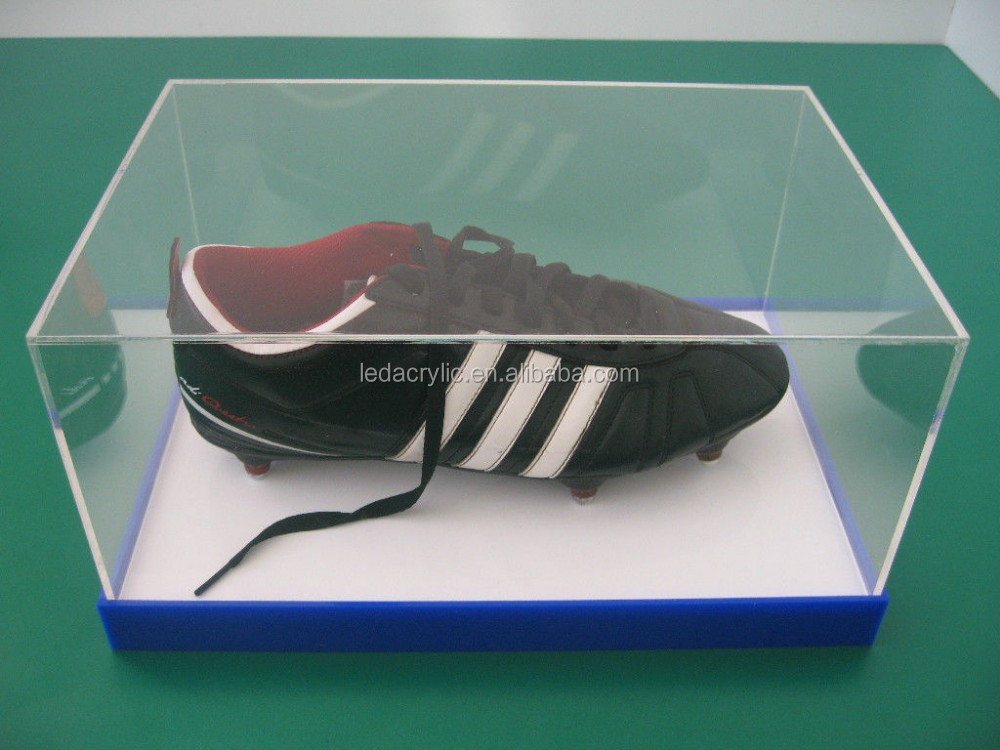 Acrylic Hat Boxes : Acrylic plastic perspex football boot shoe cap hat glove