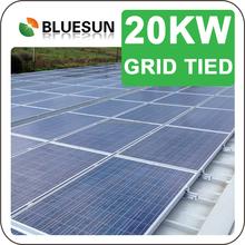 Green energy kit solar panel 20kw grid tie solar power system with inverter