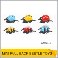 Hot funny insect toy Plastic pull back beetle toys for sale OC070313