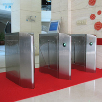 Deluxe Infrared Automatic Flap Barrier Gate for hotel building bi - directional