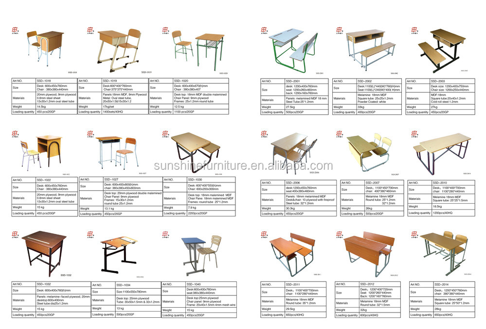 Two Seater Table Double School Desk And Chair Buy