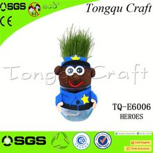 Cool hairy head Corporate Gifts grass head craft , grass heads craft