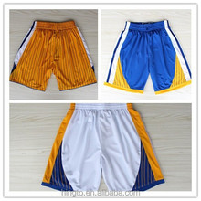 2015 new design no MOQ sublimation printing basketball shorts set