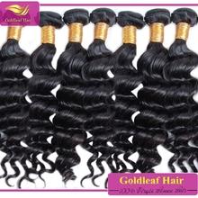 Qingdao hair factory wholesale brazilian loose deep wave weave hairstyles for black women