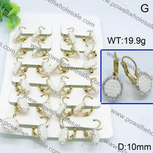 With outstanding customer service hoop earring with cyrstal r inside and outside