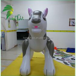 inflatable lovely husky dog for kids/infatable cartoon toys