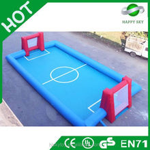 2015 Hot sales and High quality CE certificate 2 player football games,bumper ball playing field,giant inflatable sports games