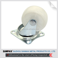 """High Quality 1.5"""" small nylon casters, swivel caster wheels"""