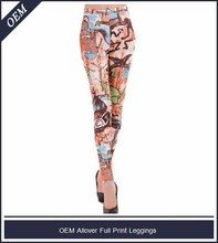 Por encargo allover impreso women leggings