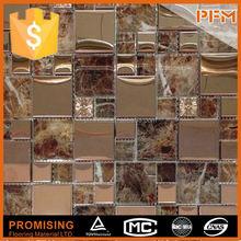 western style beautiful swimming pool thickness 8 mm glass mosaic tile