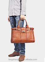 Vegetable Tanned Leather Messenger bag genuine spring bag for women and men