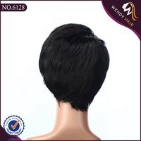 grey hair wigs for women virgin hair 3/4 wig
