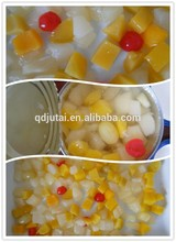 canned assorted fruit hot sale/fruit cocktail in light syrup 5 kind