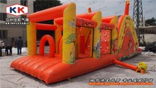 Cartoon Character Holiday Inflatable bouncer Slide obstacle Party Slide for kids/adult