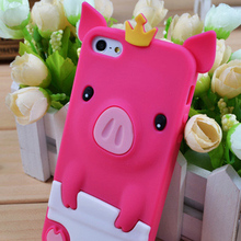 Factory price cute animal case for iphone 5, for iphone 5 silicone case, for iphone 5 soft silicone cell phone case