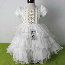 Wholesale beautiful pom-pom baby girl wedding costume M5041627