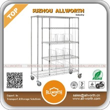 Chrome Steel Home Storage Wire Shelving