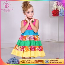 La alta calidad del remiendo vestido de algodón niña, vestido de jean diseños para chicas jóvenes
