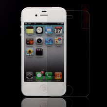 0.26/0.33mm adhesive skin sticker for iphone 4s, tempered glass phone screen for iphone 4 ,color screen guard for iphone 4