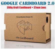 "2015 New Google cardboard version 2.0 Google Cardboard 2 virtual reality vr google cardboard 3D glasses for 3.5-6"" phone Rift"