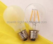 85-260V 4W E27 60*H105mm CE/EMC/GS/ERP Glass A60 Dimmable LED Filament bulbs