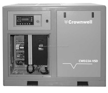 Manufacturer Crownwell Variable Speed Screw Compressor- Direct coupling type Model CWD220A-VSD