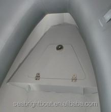 pvc fishing rigid side control boat