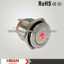 CE ROHS key lock pushbutton switch