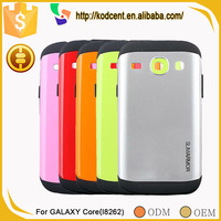 Funky hybrid armor mobile phone back cover case for samsung galaxy core i8260 i8262