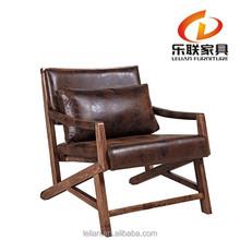 solid wood furniture rattan chaise longue vintage rattan design chair FD14A-1