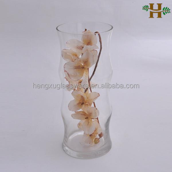altos jarrones de cristal claro para el arreglo de flores