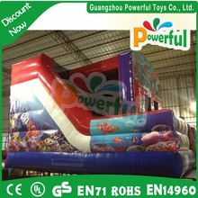 china wholesale Underwater World inflatable bouncy with slide for kids
