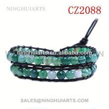 nepal women beaded rhinestone slide wholesale blanks leather New Product bracelet