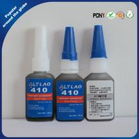 Black Super Glue, Rubber Toughened Adhesive 410 Instant Ethyl Cyanoacrylate