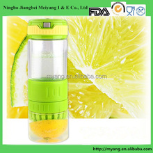 Lemon juicer glass bottle/Transparent Fruit Juicer glass Lemon Bottle /subzero glass water bottle