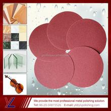 Velcro ronda lijado pad para vidrio productos de pulido alta producción