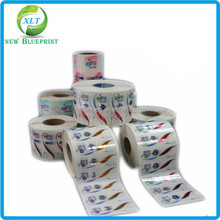 cheap self adhesive clear BOPP/PP/PE /PET/ PVC label ,custom logo glossy sticker