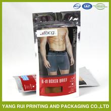 China manufacturer custom printing garment clear plastic packaging bag