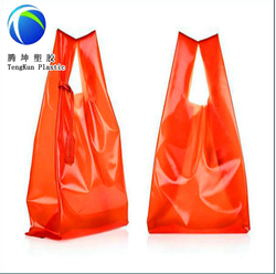custom printed LDPE/HDPE plastic biodegradable economic plastic shopping bags manufacturer and exporter