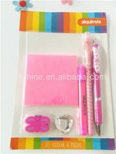 Pen and memo set ,Value school stationery set