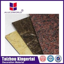 Alucoworld heat resistant interior wall marble material acp
