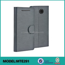 Factory flip leather phone case with card slot for Moto E 2nd gen 2015