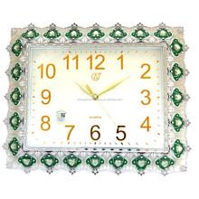 Retangular Ethnic Antique Quartz Clock with Big Diamonds