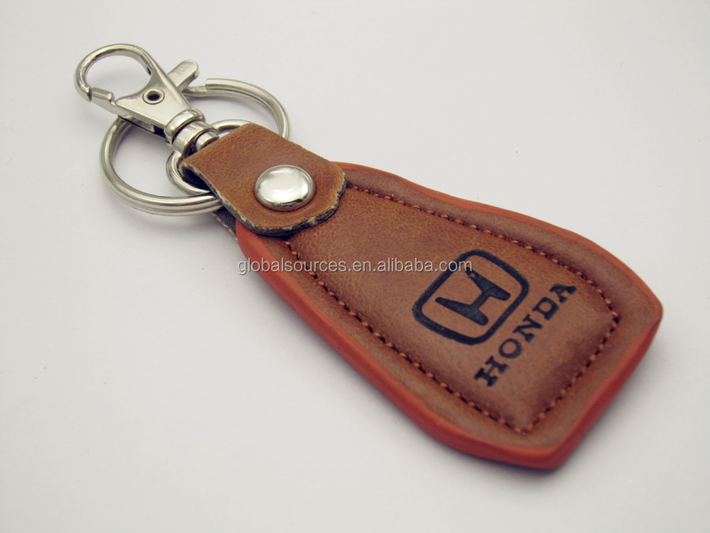 Custom leather key chain with laser logo