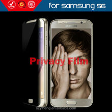 New Arrival Prevent Peeping Screen Cover for Samsung Galaxy S6 Privacy Protective Filter Guard
