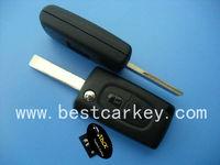 407 2 button flip auto remote key for key remote control peugeot